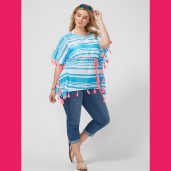 fad0d4a446 Lane Bryant Bright Colors Swim Cover-Up